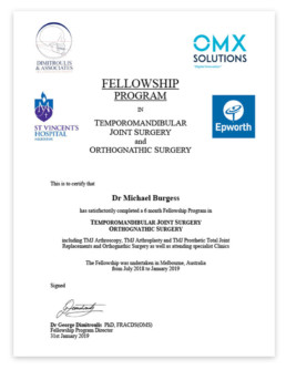 Dr Michael Burgess Maxillofacial Surgeon Brisbane